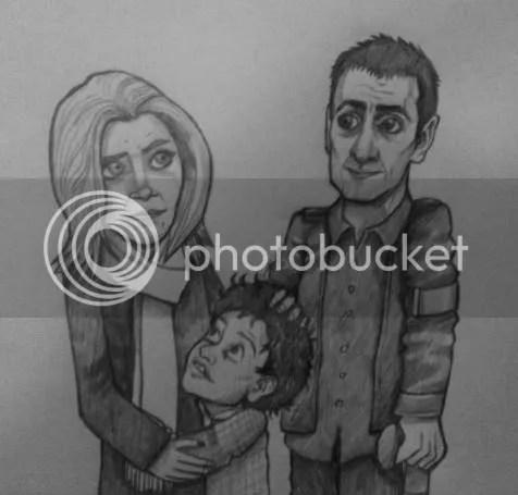 Peter Barlow caricature, Lianne Battersby, Simon Barlow