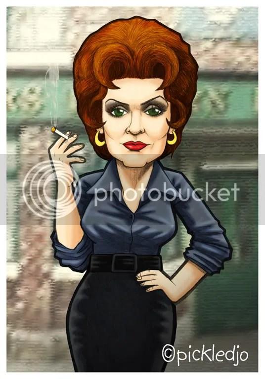 Elsie Tanner, Pat Phoenix caricature, coronation street