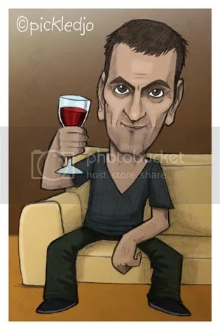 Peter Barlow enjoys a wine #Corrie