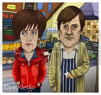 Roy & Hayley Cropper Caricature