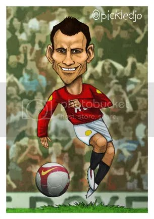 Ryan Giggs - manchester United Caricature Pickledjo