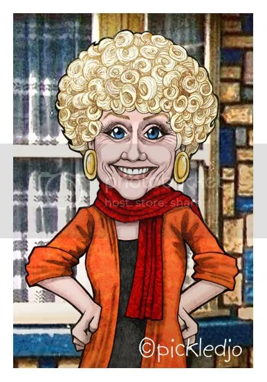 Vera Duckworth Caricature
