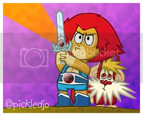Lion-O and Snarf Thundercats Cartoon