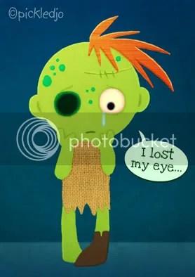 a sad zombie pickled