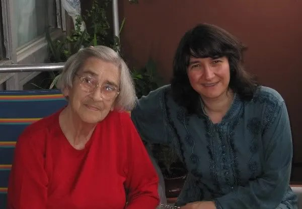 Cathy Young and Elena Bonner in August 2007