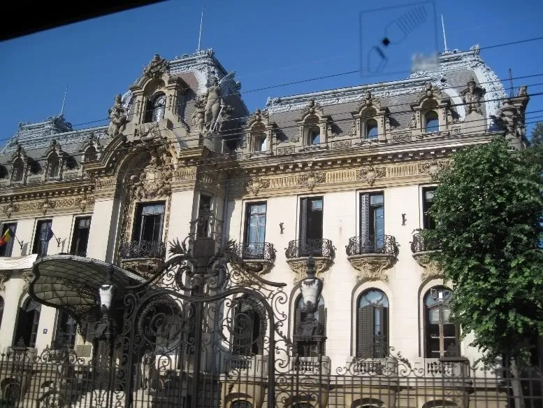 One of the classical buildings on Bucharests main boulevard, Victory Street