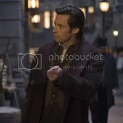 as magician Rupert Angier in Chris Nolan's The Prestige