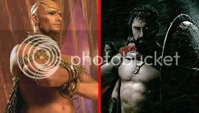 androgynous Rodrigo Santoro versus Phantom of the Opera's Gerard Butler