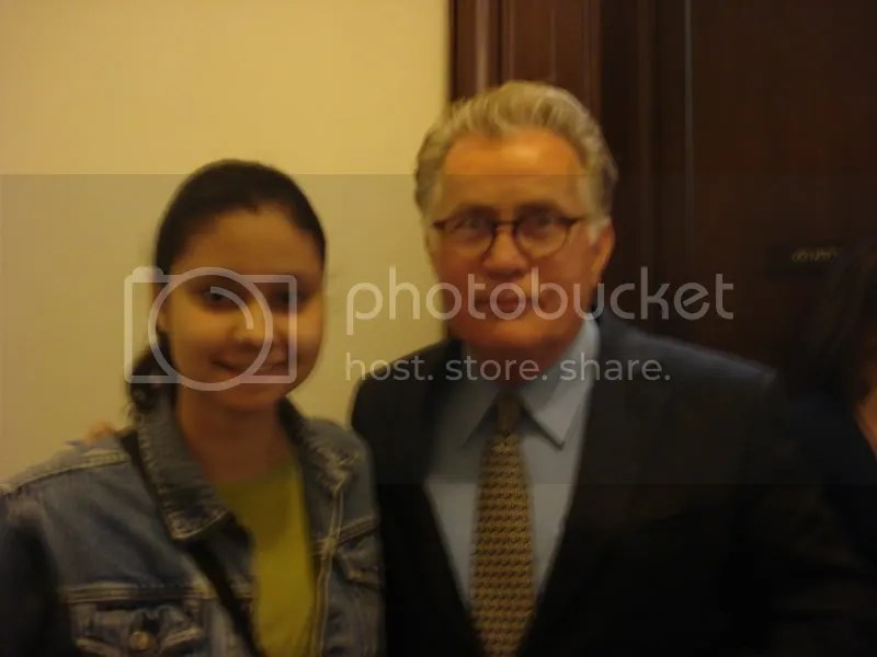 Me and Martin Sheen. I am the one who is *not* Martin Sheen.