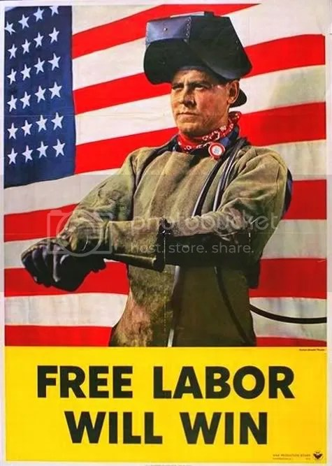 Free Labor Will Win, poster from 1942, (Library of Congress)