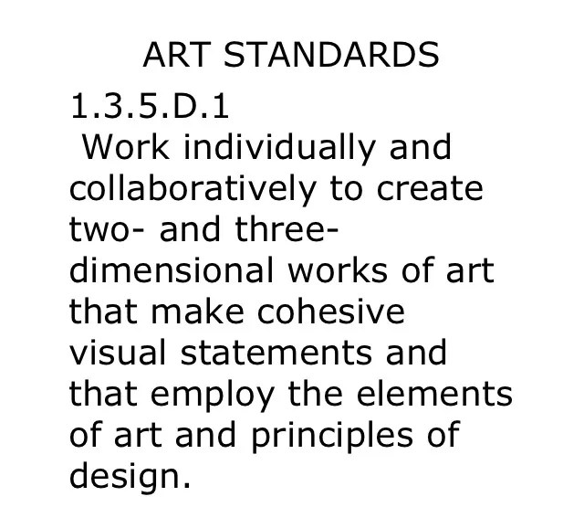 The Helpful Art Teacher: Elements of Art and Principles of