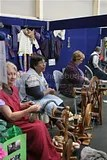 Guild Members Demonstrating Spinning at the Royal Easter Show