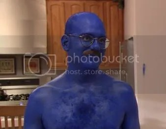 I blue myself.