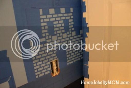 taped mario castle