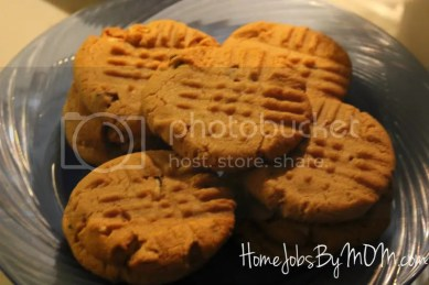 easy chocolate chip peanut butter cookies