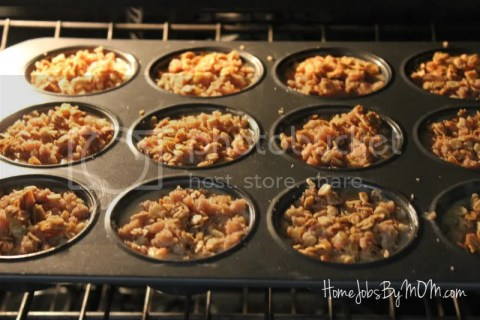 apple granola streusel muffins