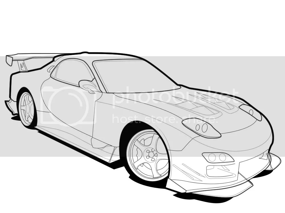 Free coloring pages of masda rx7