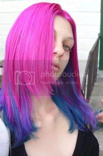 Pink Blue And Teal Hair Madradhair