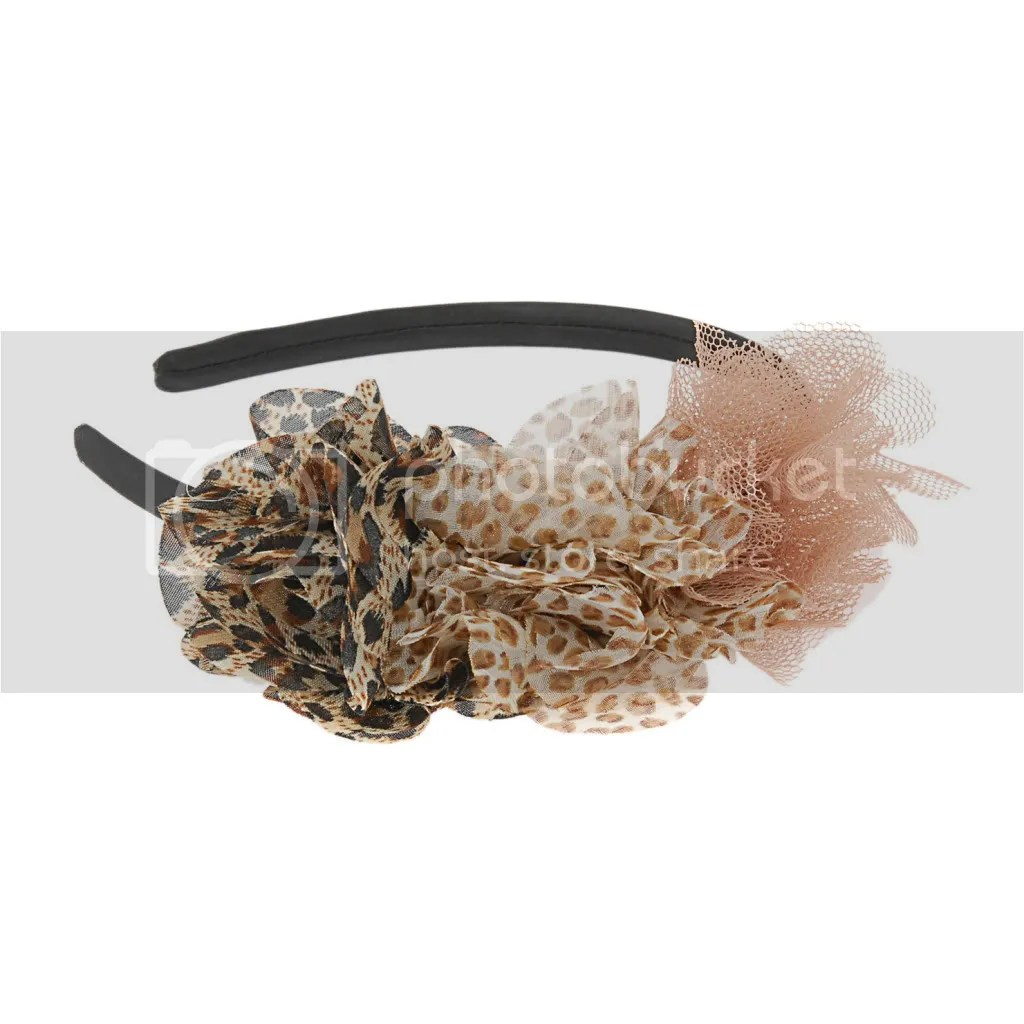 Aldo animal print puffs headband