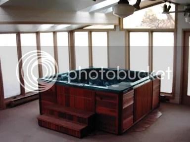 Indoor Hot Tub...Classy!