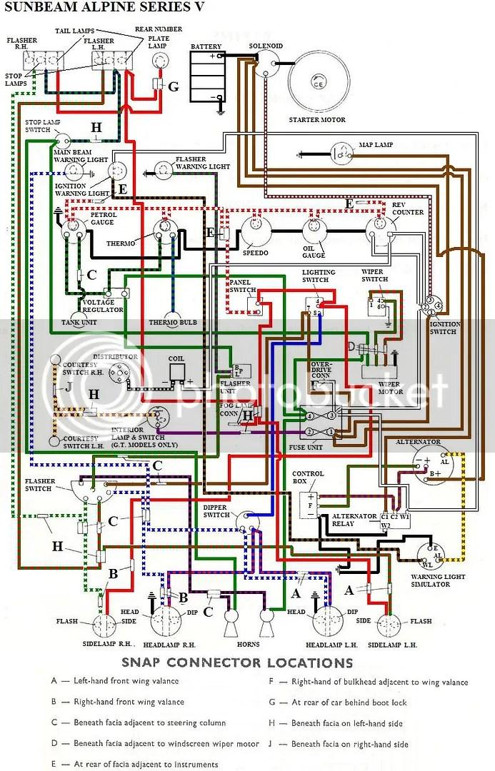 sunbeam tiger wiring diagram wiring diagram sunbeam alpine wiring diagram at Sunbeam Alpine Wiring Diagram