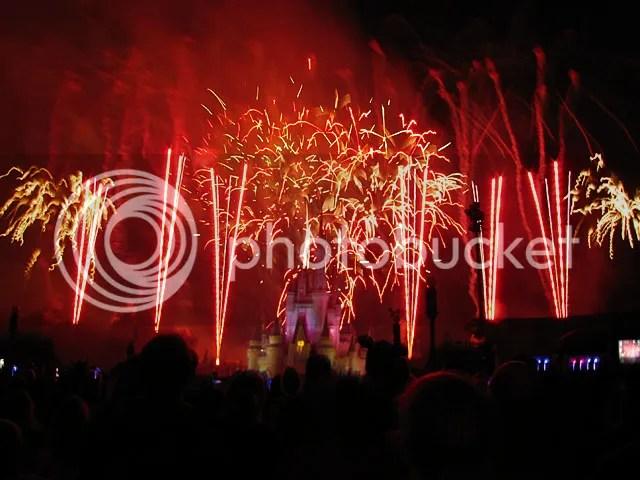 Fireworks from Main Street USA