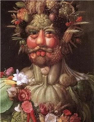 Vertumnus - a portrait of Rudolph II by Giuseppe Arcimboldo. Arcimboldo is one of Jeff VanderMeers many influences.