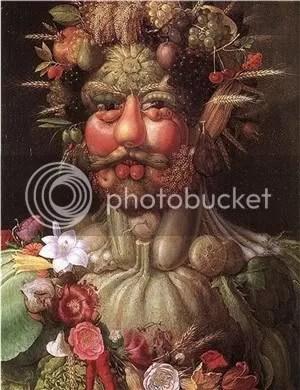 Vertumnus - a portrait of Rudolph II by Giuseppe Arcimboldo. Arcimboldo is one of Jeff VanderMeers many influences.