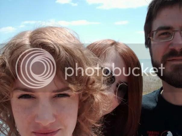Band self-portrait on Lake Erie