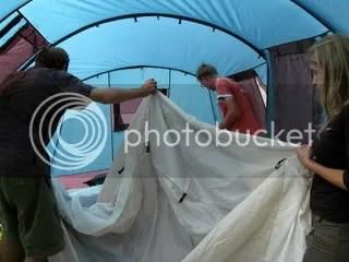 How many muzungu does it take to set up a tent?