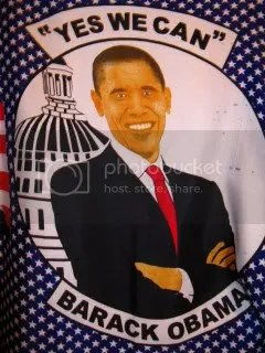 Barack Obama chitenge (detail)