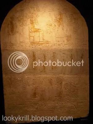 egyptian showcase,museum,stele
