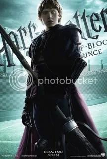 Ron in quidditch uniform