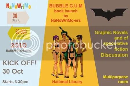 Bubble GUM NaNoWriMo Kick-Off