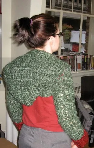 Back of Hooded Shrug