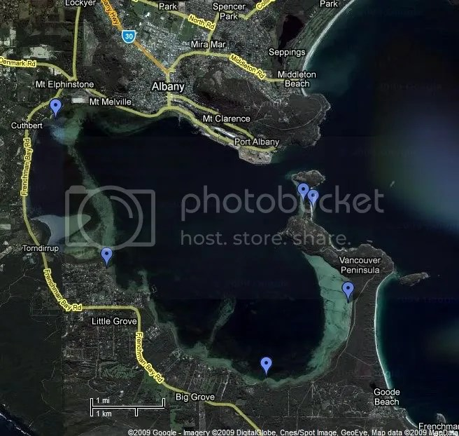 Proposed sampling sites in Princess Royal Harbour