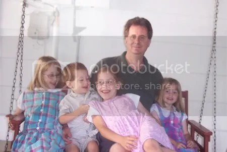 Ken and children (all but baby Kieran)