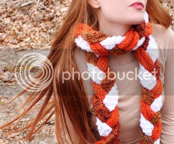 diy braided scarf - Gina Michele