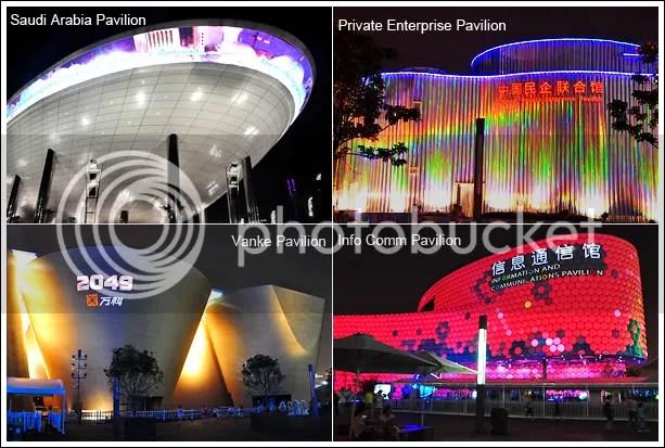 Pavilions at night