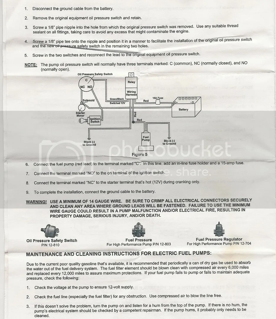 holley oil pressure safety switch wiring diagram electric dryer cord library heres the for elect pump