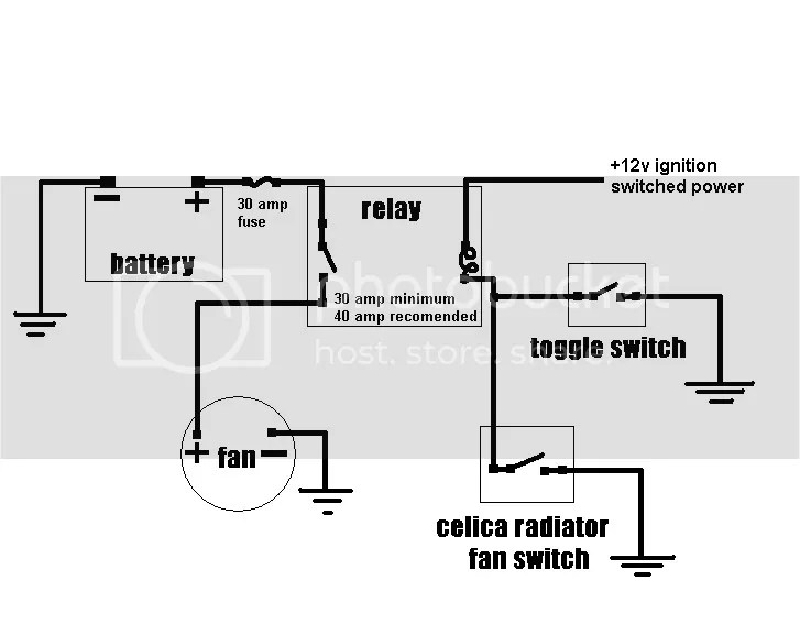how to wire electric fans to the 1j?