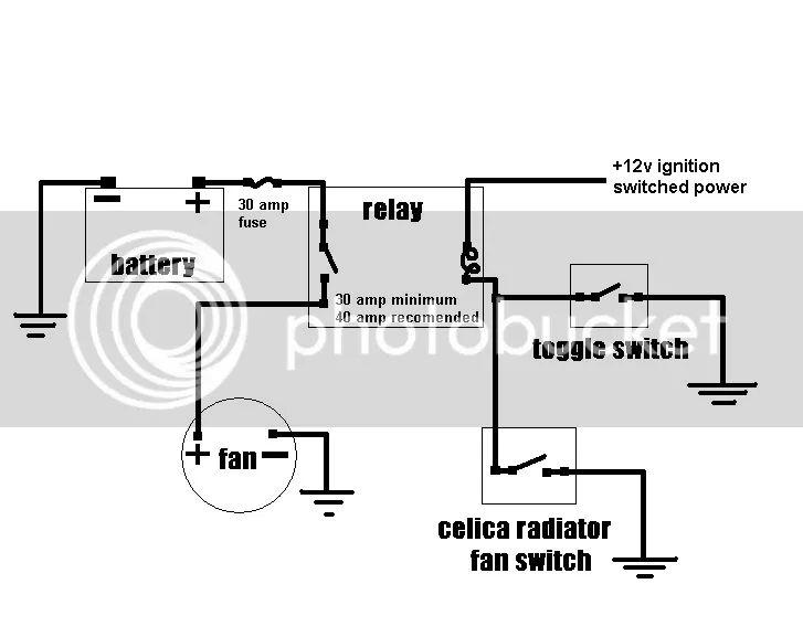 wiring diagram electric radiator fans