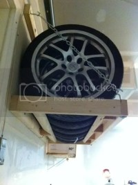 Built a wall mounted tire rack