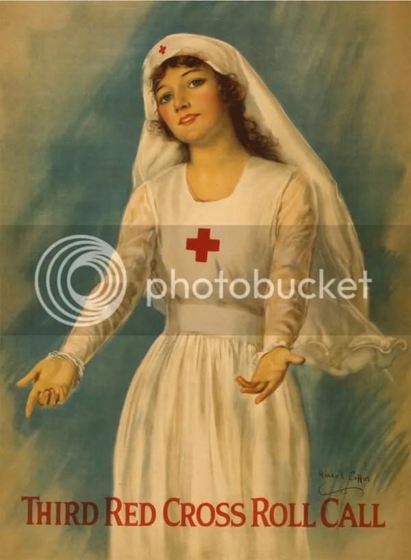 Set 2 Wwi American Red Cross Nurse Recruitment Poster Art