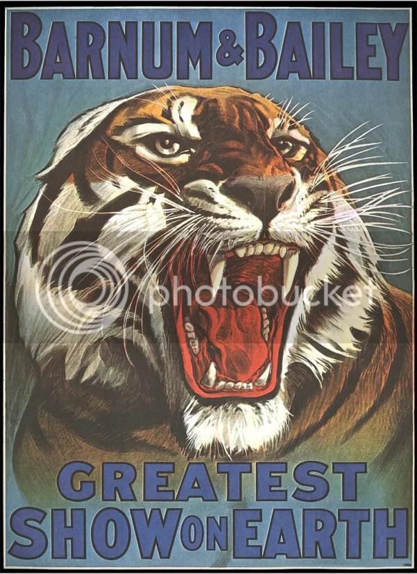 2 Ringling Bros Barnum Bailey Circus Tiger Wild Animal