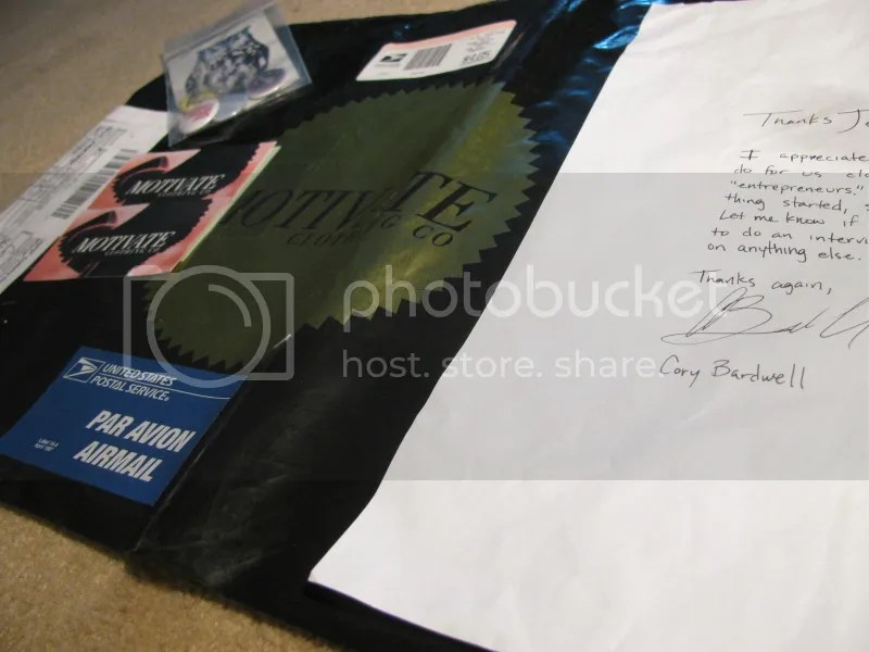 Motivate Clothing Packaging