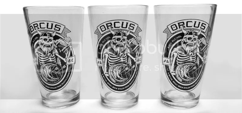 Orcus brand - Pint Glasses