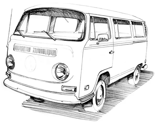Vw Bus Sketch Templates