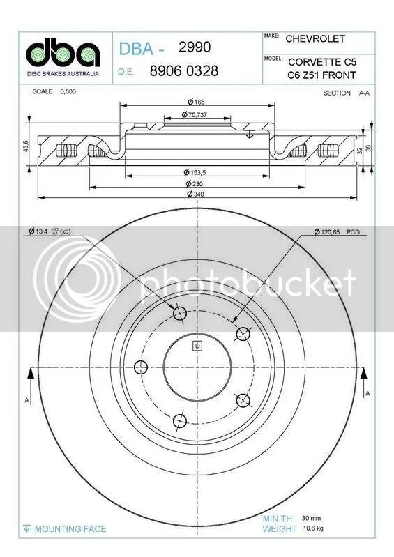 Stock C5 rotor sizes?-Worth upgrading to C6 Z51 brakes