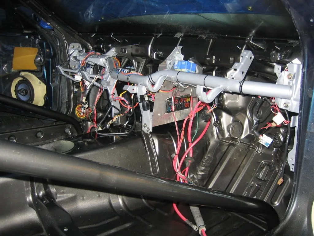 hight resolution of here is everything its all tied into the underdash crossbar fusebox relocation